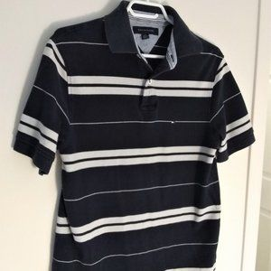 Tommy Hilfiger Mens Polo Shirt Navy/White Size M